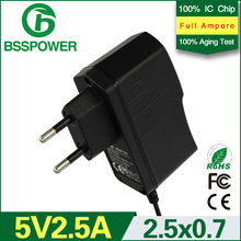 Best price superior quality AC 100v-240v DC 5v 2.5a power supply adapter 2500mA adaptador EU plug 2.5*0.7mm mobile phone used(China (Mainland))