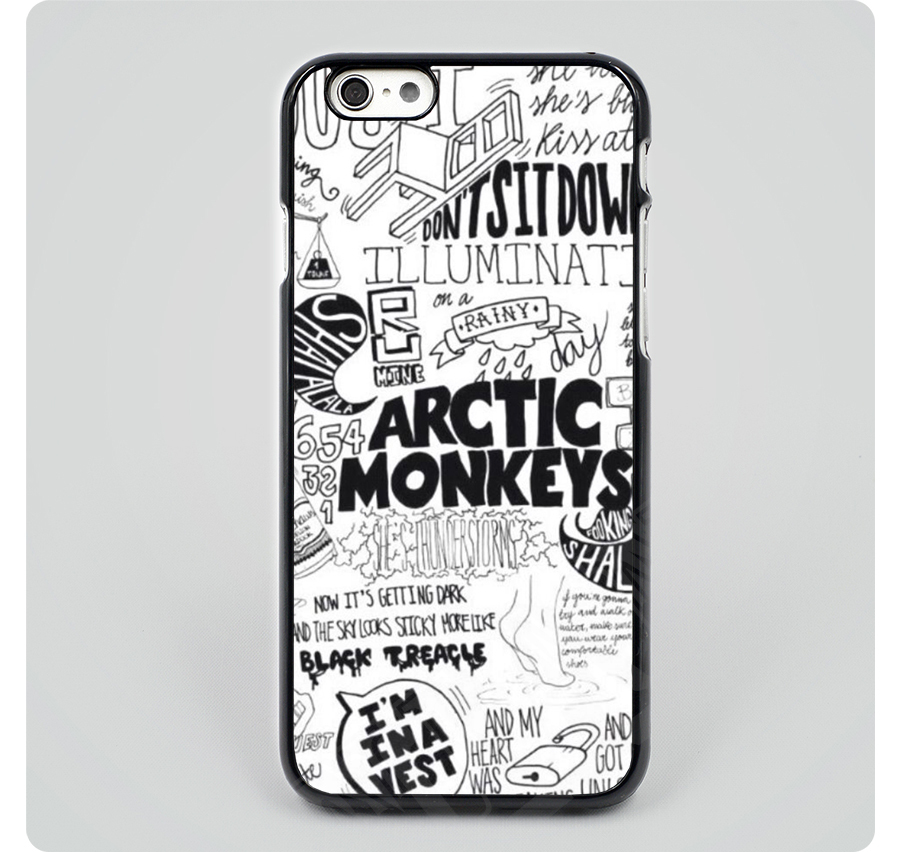 arctic monkeys t shirt black hard skin mobile phone cases cover housing for iPhone 4 4s 5 5s 5c 6 6 plus free shipping(China (Mainland))