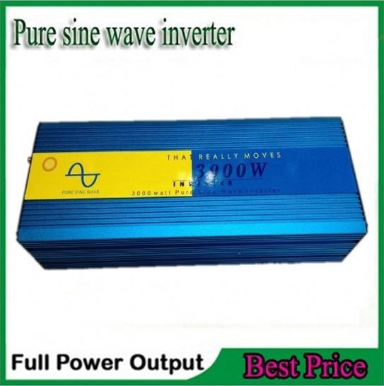 3000w Solar Power inverter Max 3000w 12V/24V DC to 110V/120v/220v /230V /240V AC Pure sine wave wind solar generator inverter(China (Mainland))