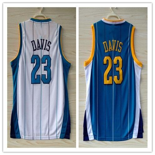 Charlotte Hornets 23 Anthony Davis New Orleans Jersey Retro Hardwood Classics Authentic Uniform Stitched Logo Basketball Jerseys(China (Mainland))