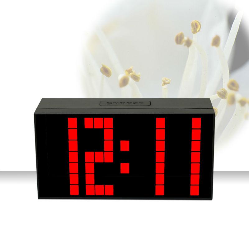 Ch KOSDA Modern calendário termômetro alarme Snooze relógio Digital LED relógio de mesa grande número Big relógios de noite
