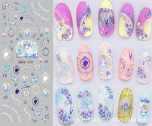 2016 newest popular fashion winter design Export JAPAN DS257-271 Water transfer printing beauty water decals nail art stickers