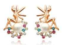 Cute Angel Pearl Earring