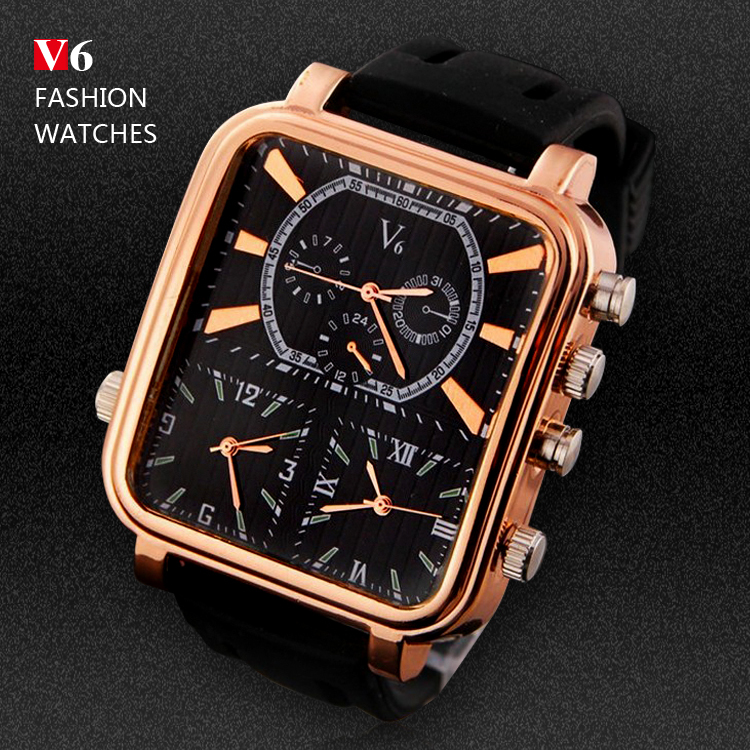 V6 Mens Sports Watches Men Luxury Brand Multiple Time Zone Military Watches Male Business Square Clock Analog Quartz Watch<br><br>Aliexpress