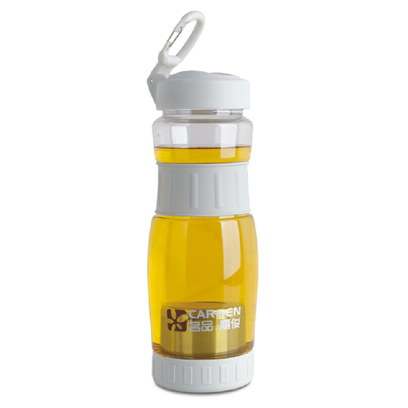 1 Pcs Removable Filter Sieve Kettle Water Bottle 700ml HM Carbon For Sports Travel Tea Cups Drinking Glass Water Bottles S2389(China (Mainland))