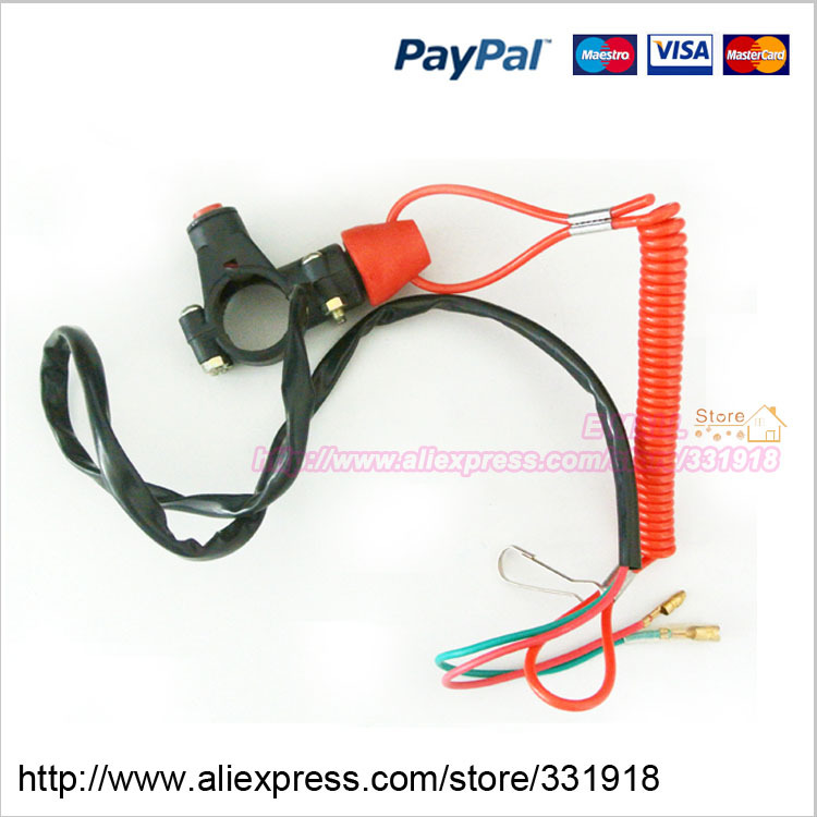 Motorcycle Pocket Bike Part Kill Stop Tether Closed Safety Switch Push Button - OMG Online Store store