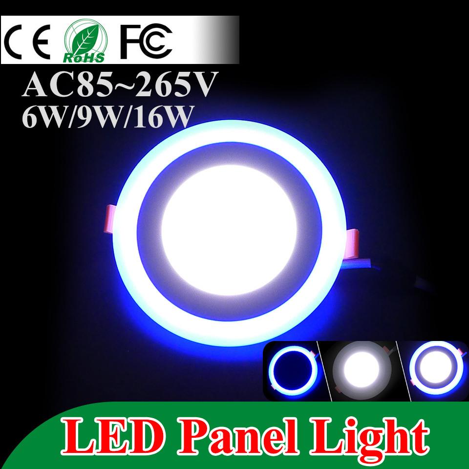 Ultra thin LED Panel Downlight 6w 9w 16w Three Model Light Round led panel lights AC85-265V Recessed Ceiling panel CE UL ROHS(China (Mainland))