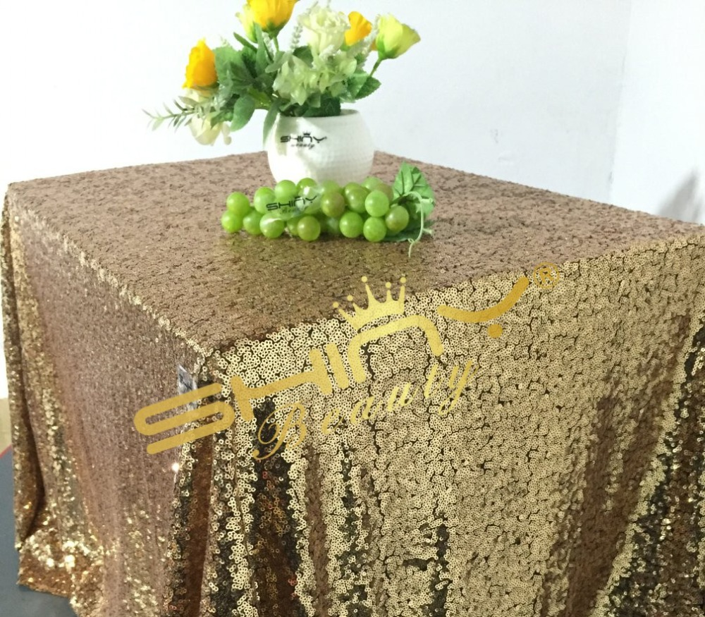 Black Gold 50''*50'' Sequin Tablecloth, Wholesale Sequin Table Linens For Sparkly Wedding Tablecloth Decoration(China (Mainland))