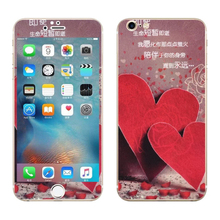 Red heart Luxury Sticker for Iphone 6 6S Plus Screen Protector Anti knock iphone6 iphone6s 5.5″ smart phones cover film