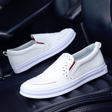 2016 Time-limited Sale Yeezy Led Shoes Autumn British Casual Shoes Men 's Cloth Carved Korean Wave Tread A Lazy Set Foot Peas(China (Mainland))