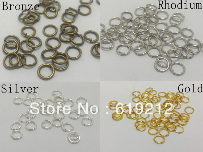 0.9mm*7mm 1000pcs/lot Jump Rings , Split Rings Jewelry Findings For Jewelry Making(China (Mainland))