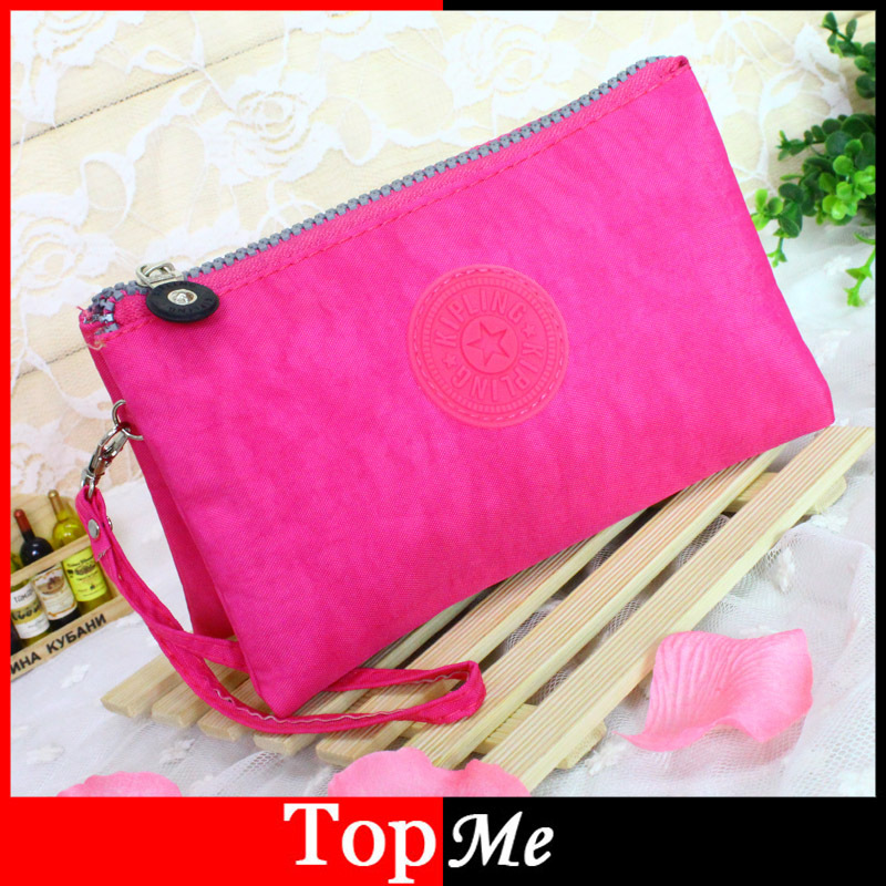 Fashion Women Handbags Brand Zipper Canvas Fabric Lady Bags Wristlets Girls Keys Cell Phone Purses Woman Wallets Money Bag Burse(China (Mainland))
