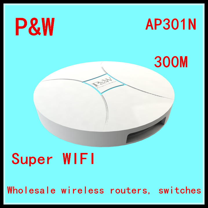 Free shipping 300M ceiling wireless AP Router AP301N power routing AP RippleOS advertising commercial WIFI 48V 0.5A(China (Mainland))