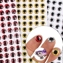 Anmuka 500pcs/lot DIY 3D Fishing Lure Eyes Fly Eyes 4MM-9MM Realistic Artificial Fishing Eyes Sliver Gold Red Minnow Lure Stick(China (Mainland))