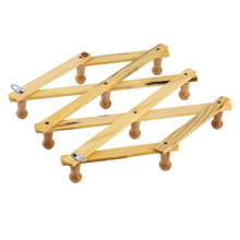 Solid Wooden Hanger Expandable Wooden Coat Rack Hat Hook Expanding Fold . Brand New(China (Mainland))