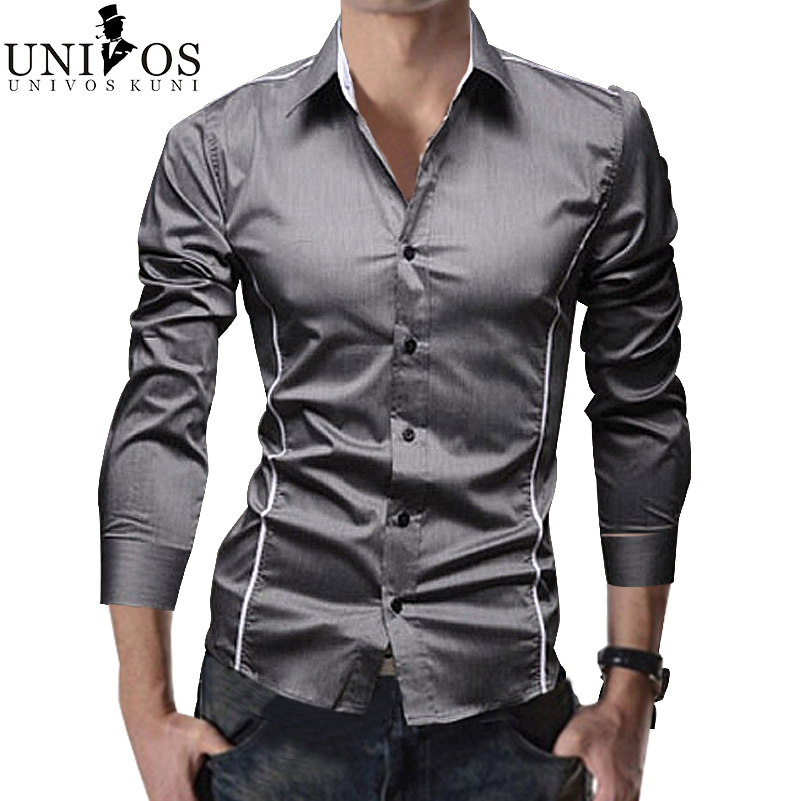 Men striped shirt long sleeve fashion 2016 spring dress for Black tuxedo shirt for men