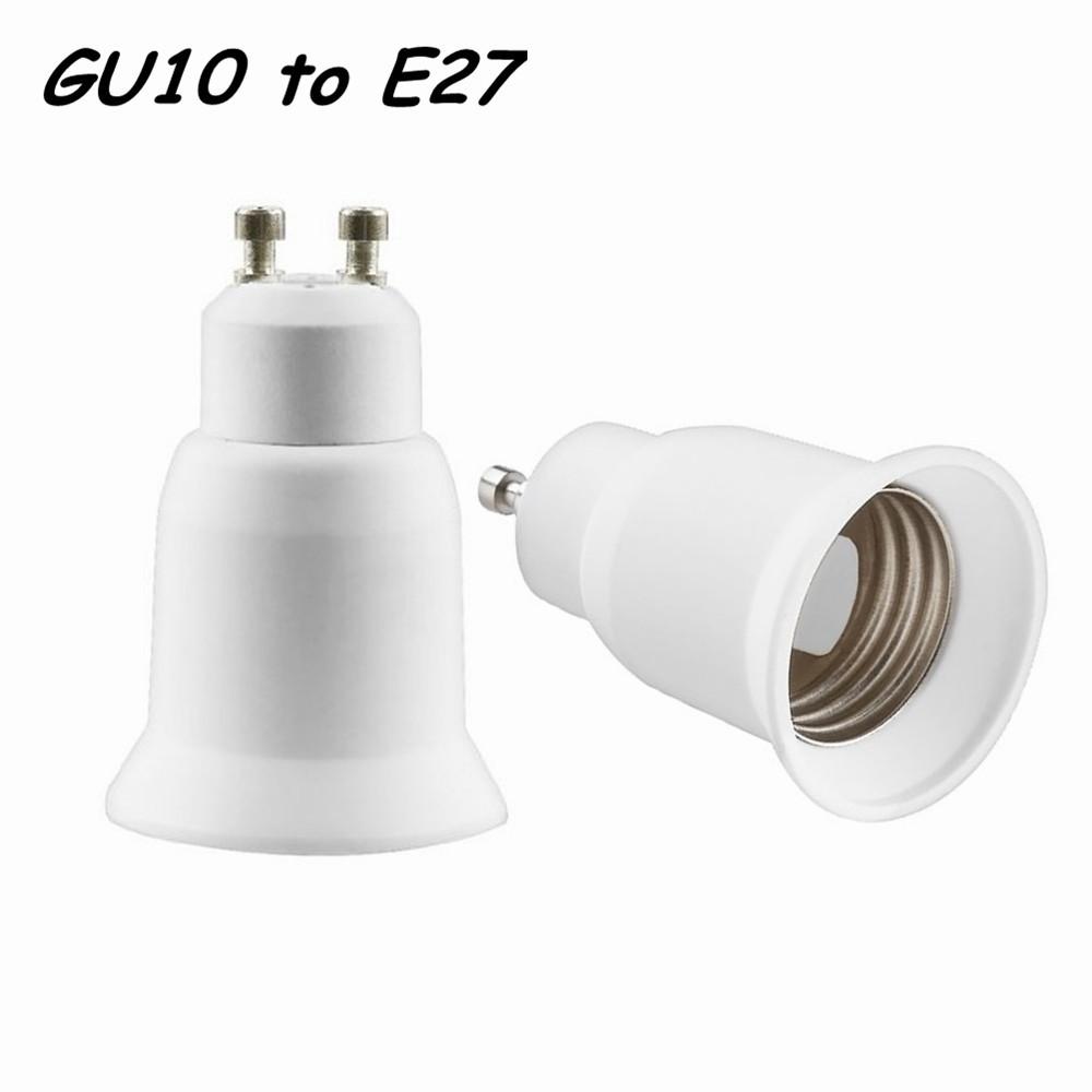 10PCS Free Shipping GU10 to E27 Base Socket Adapter Converter For LED CFL Light Lamp Bulb(China (Mainland))