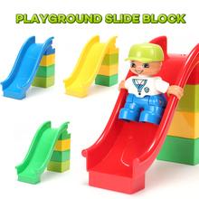 Funlock Duplo Площадка Слайд Детей Игрушки и Игры Строительный Блок (Синий, Зеленый, Желтый, Красный)