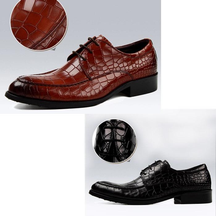 Chaussures Homme Crocodile Cuir Chaussures Hommes en Cuir
