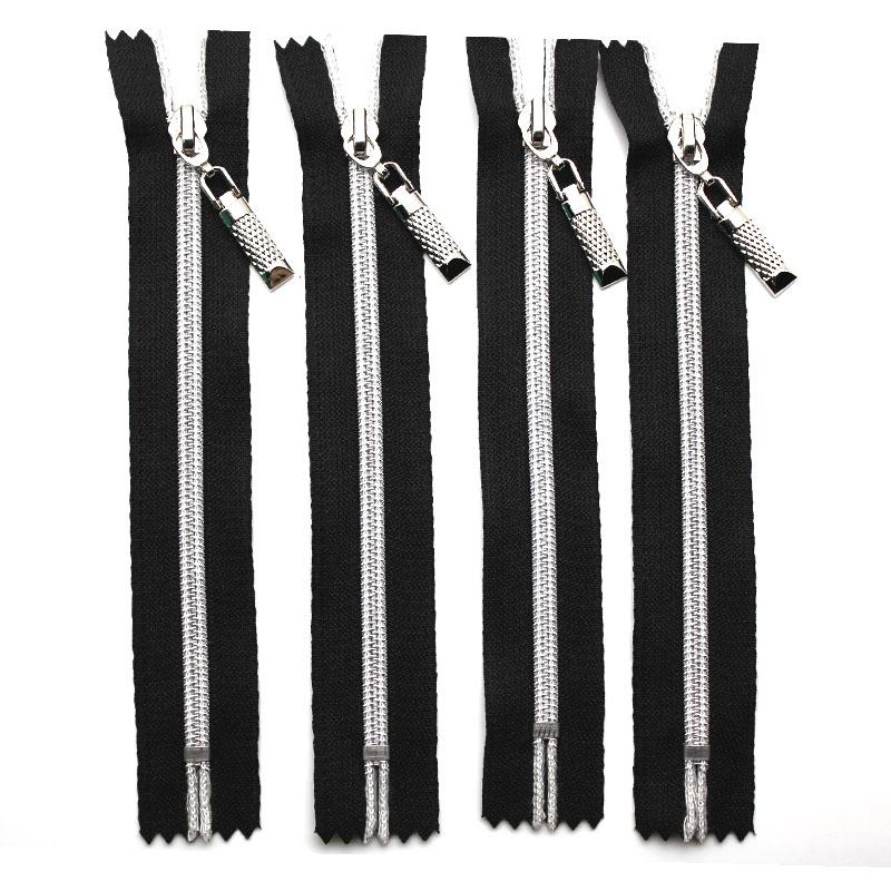 1 PCS 7# nylon slider long zippers NYLON close-end open end double open zipper zip fastener r for sewing zinc alloy ribbon black(China (Mainland))