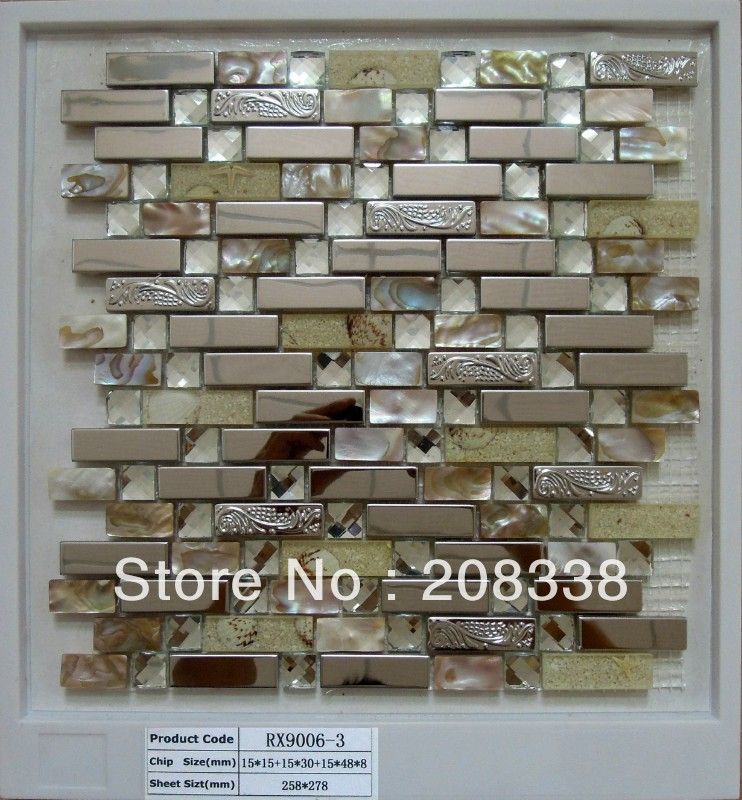 metal mosaic tiles,steel mosaic,bathroom mosaic tiles,kitchen mosaic tiles,shell mosaic tiles