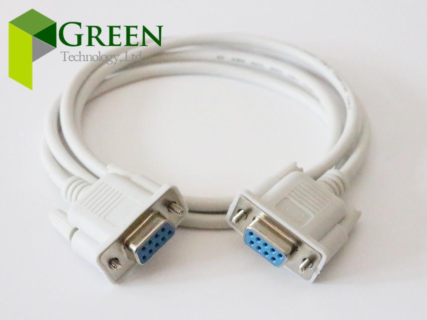Free shipping 9-pin to 9-pin 1.5M VGA cable VGA Female to Female DB9 Serial extension cable RS232 10PCS(China (Mainland))
