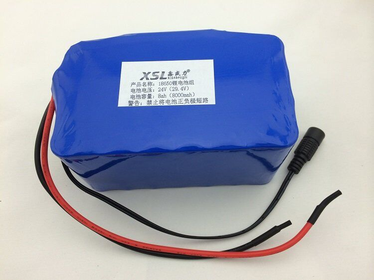 24V 8A 7S4P 18650 lithium battery 29.4V lithium ion battery pack used in electric moped / electric bicycle + free shipping(China (Mainland))