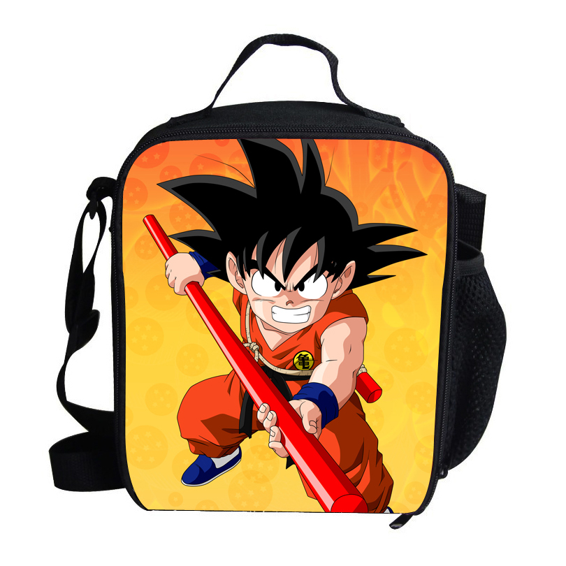 Popular Cartoon Character Kids Lunch Bag For School Boys Dragon Ball Lunch Bag Personalized Insulated Lunch Bag For Children(China (Mainland))