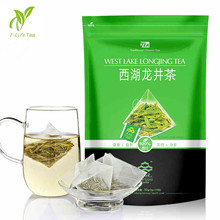 Promotion 15 bags Chinese 100% Natural Organic Green Tea Teabags 2015 West Lake Longjing tea Good for Health Food Chinese Coffee