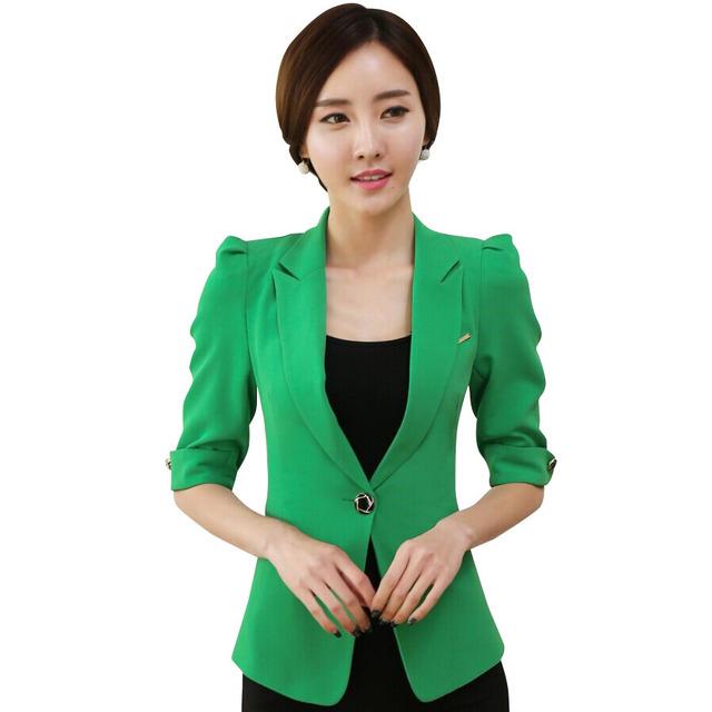 2015 Лето рабочая одежда женская куртка мода OL уменьшают женщин половина рукава ...