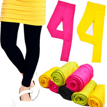 High quality 2014 spring autumn kids leggings for girls candy colors Children stretch baby casual cotton