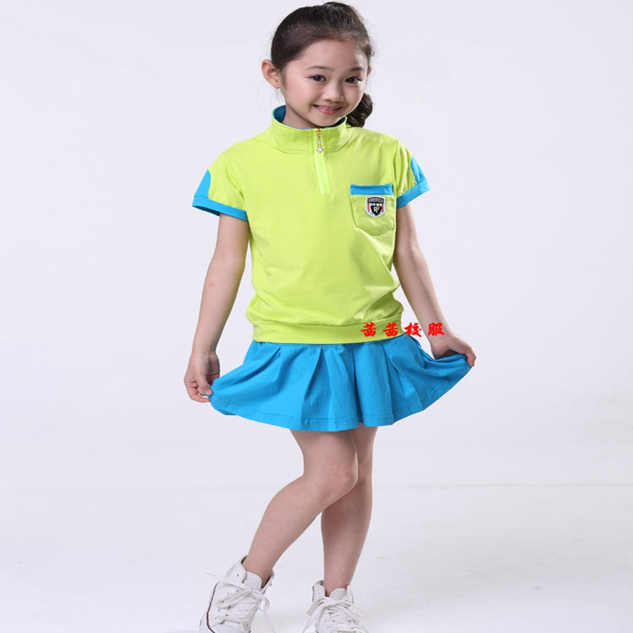 Kindergarten children's school uniforms in the summer school uniforms 2016 new children's clothing apparel wholesale clothing(China (Mainland))