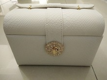 New arrival princess heart lock jewelry box high quality leather storage box 3 layers joais caixa free shipping
