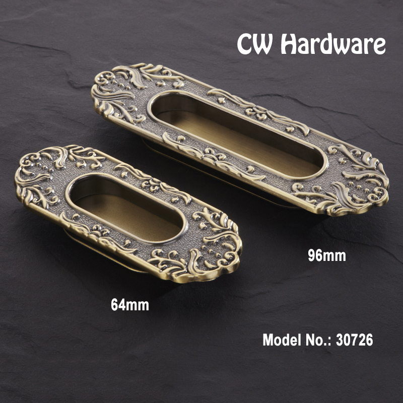 64mm 96mm Free Shipping hidden door handles/ drawer handles, Antique Cabinet Furniture Handles/Hidden Door Handle 30726(China (Mainland))