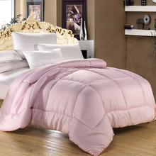 100%  Microfiber Fabric King Queen Size Comforter set With Cotton Bedding Cover Winter/Autumn Warm Quilt Duvet Blanket(China (Mainland))