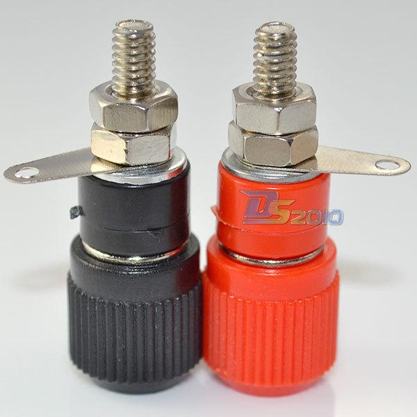 High Quality1 pair Amplifier Terminal Binding Post Banana Plug Jack Panel mount connector(China (Mainland))