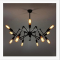 Creative Personality Wrought Iron Spider Chandelier Retro Fashion Creative Living Room Lamp Terrace Restaurant Industry Light