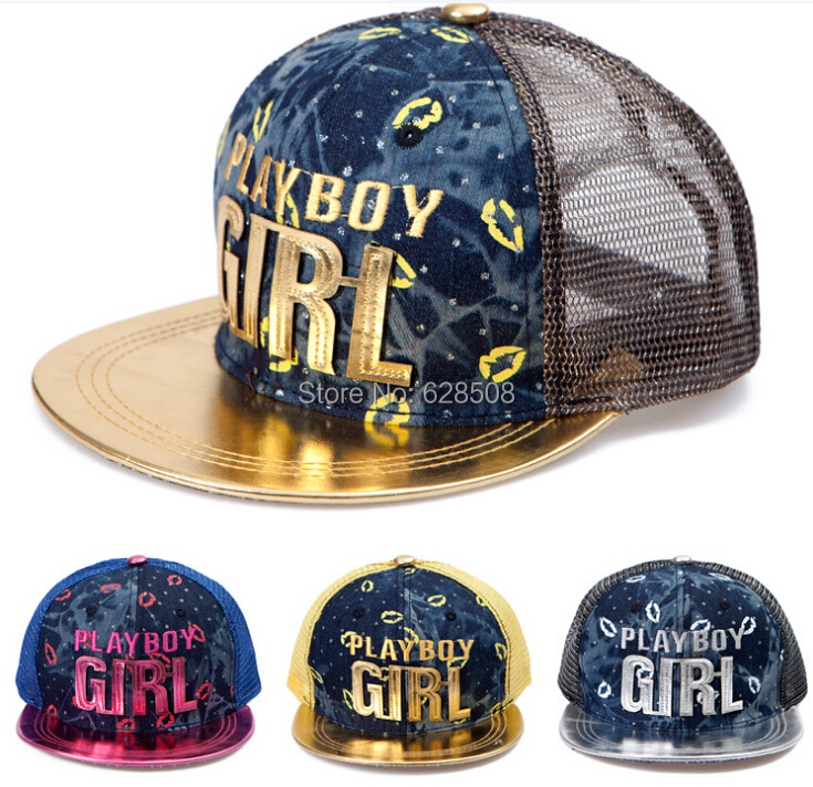 HAT AND CAP /GIRL / BUCKLE // ADJUSTABLE ONE SIZE /men women letters mesh flat along hip-hop cotton baseball cap /hats - JW fashion factory store