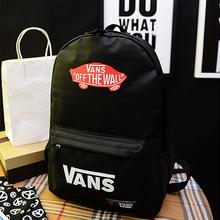 8 COLOR School Youth Trend Schoolbag 2015 New Ladies Female Man Shoulder Bag Backpack VANS Escolar bolsas mochila US Nina(China (Mainland))