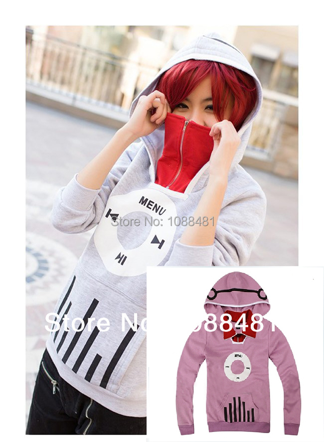 Kagerou Project MekakuCity Actors Kido Tsubomi Hoodie Cosplay Unisex Fashon Music coat(China (Mainland))