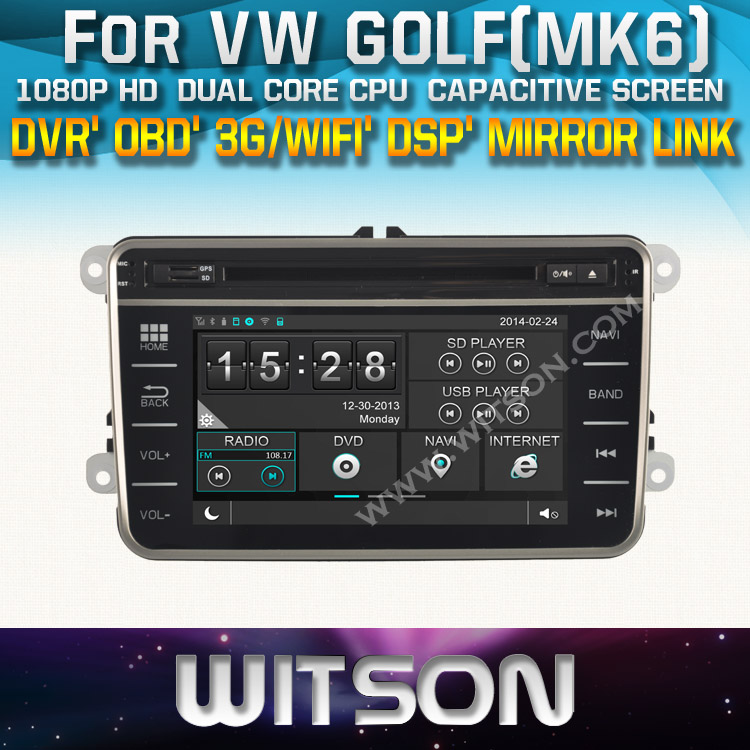 WITSON factory price!! car dvd for VW VW GOLF(MK6) GOLF(MK5) POLO(MK5) PASSAT(MK7) PASSAT(MK6) PASSAT CC +TPMS+DVR+ WIFI(China (Mainland))