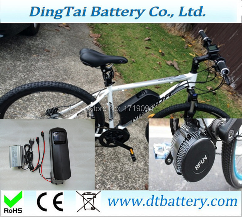 high power e-bike battery 48v 12.8Ah with 8fun central motor kit BBS02 48v 750w for Electric bicycles, electric tricycles(China (Mainland))