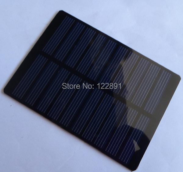 High Quality! 1.3W 5V Mini Solar Cell Solar Module Polycrystalline PET Solar Panel DIY Solar Charger 110*80*3MM Free Shipping(China (Mainland))