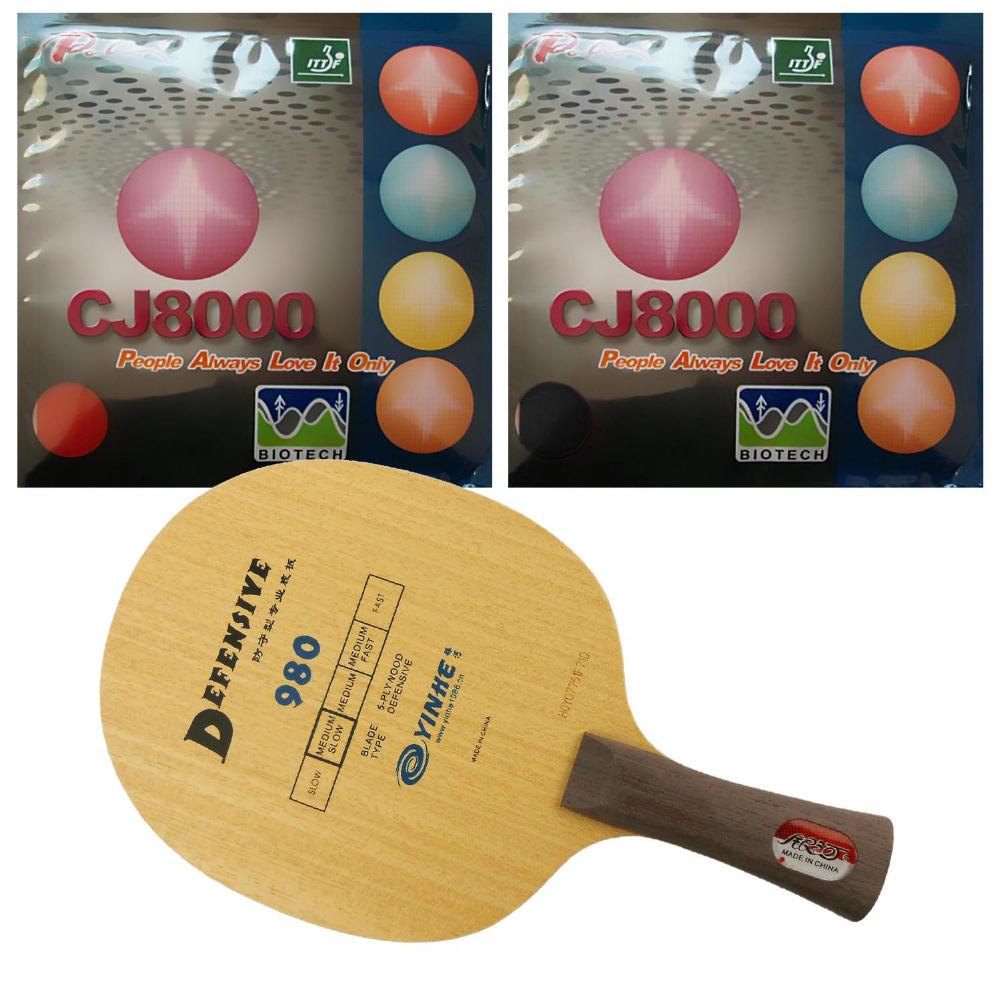 Pro Combo Racket, Galaxy 980 Blade with 2x Palio CJ8000 (BIOTECH) 36-38 degree Rubbers<br><br>Aliexpress
