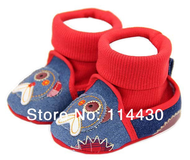 Hi-top Jeans Soft Sole Bay Girls Shoes First Walker Sneaker(China (Mainland))