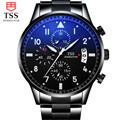 TSS Men Casual Watch Stainless steel Luxury Men Watches Quartz Wristwatch CHRONOGRAPH 24 hours Function Sport