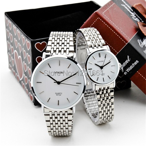 relogios masculino 2016 new fashion watch men full stainless steel analog quartz-watch ladeis watch montre homme couple watch(China (Mainland))