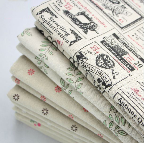 style Eco-Friendly linen/cotton fabric sewing whole Printed daisies cloth width 150CM,1 meter one piece - AoAo DIY store