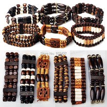 Buy 12Pcs Mixed Design Wood Beads Charm Bracelet Women Men Jewelry Fashion Elastic Wooden Bangle Cuff Bracelet Wholesale for $6.65 in AliExpress store