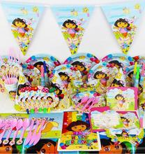 Buy 2017 51/84pcs Luxury Kids girls Birthday Party Decoration carton Set Dora Theme Party Supplies Baby Birthday Party celebration for $13.99 in AliExpress store